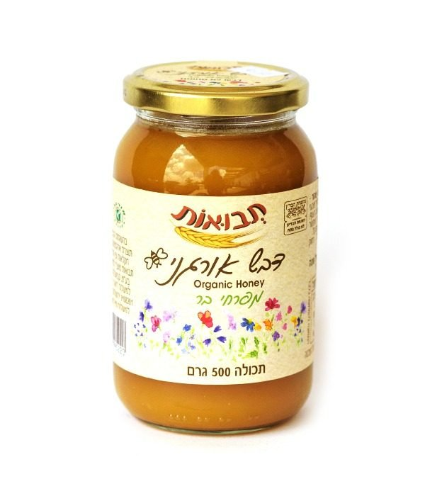 דבש אורגני - 500 גרם תבואות