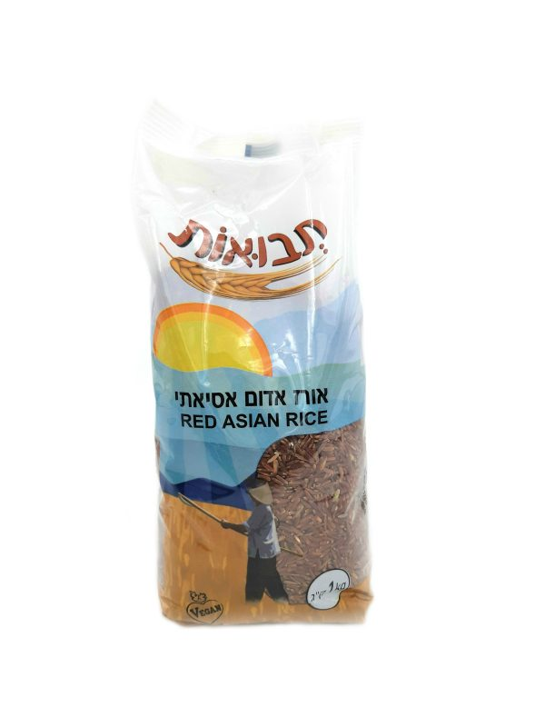 תבואות אורז אדום אסיאתי קילו 1