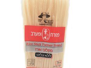 """מקלוני אורז ללא גלוטן 3 מ""""מ"""